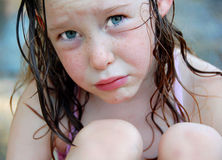 Young Girl Looking Sad Royalty Free Stock Images