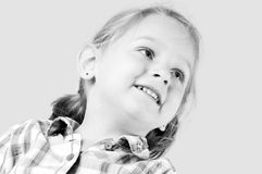Young girl looking up Royalty Free Stock Image
