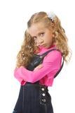 Young girl looking upset Stock Image