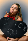 Young girl in love Stock Photography