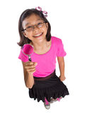 Young Girl With Magnifying Glass II Royalty Free Stock Photos