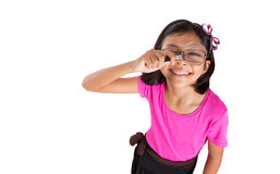 Young Girl With Magnifying Glass IV Stock Photography