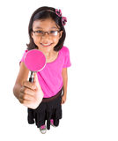 Young Girl With Magnifying Glass VI Stock Image