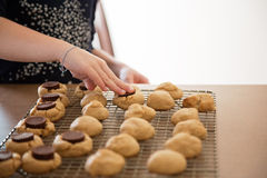 A young girl making cookies Royalty Free Stock Photo