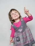 Young girl making faces. Studio shot of young girl making faces Royalty Free Stock Photos