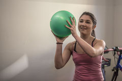 Young girl making fitness Royalty Free Stock Photography