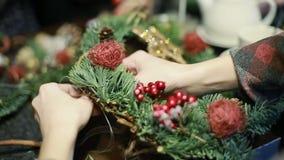 Christmas tree toys handmade stock video