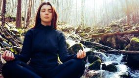 yoga woman mountain pose stock image image of healthy