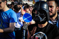 Young Woman With Darth Vader Mask Royalty Free Stock Images