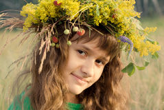 Young girl on meadow Stock Image