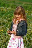 Young girl  on meadow Royalty Free Stock Photo