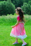 Young Girl in Meadow Stock Photo
