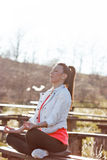 The young girl meditates Stock Photography