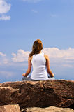 Young girl meditating Royalty Free Stock Photo