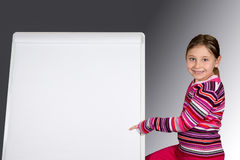 Young Girl with Message Board Royalty Free Stock Photography