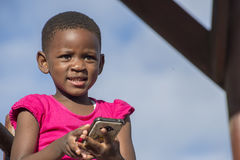 Young Girl with Mobile Phone Stock Photos