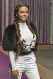 Young girl model at Kyiv Fashion 2014 Royalty Free Stock Image