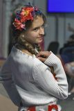 Young girl model at Kyiv Fashion 2014 Stock Photo
