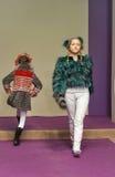 Young girl models at Kyiv Fashion 2014 Stock Image