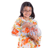 Young Girl With Money Jar XIII Stock Images