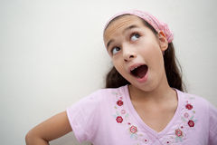 Young girl with mouth open Royalty Free Stock Photography