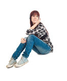 Young girl music Royalty Free Stock Photography