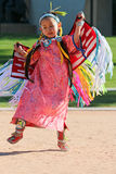 Young Girl - Native American Powwow. A young Indian girl performs at the Heard Museum of Native Cultures and Art, located in Phoenix, Arizona, USA. The Heard Stock Photos