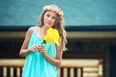 Young girl in nature Royalty Free Stock Photography