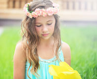 Young girl in nature Royalty Free Stock Photo