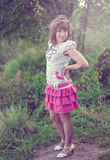 Young girl on the nature Royalty Free Stock Photography