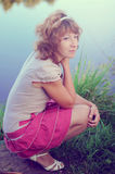 Young girl on the nature Royalty Free Stock Photo