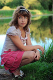 Young girl on the nature Stock Photo
