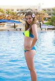 Young girl near swimming pool Royalty Free Stock Photography