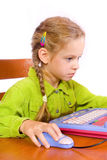 Young girl with notebook. Sitting young girl with notebook Royalty Free Stock Image
