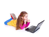 Young girl with notebook Stock Images