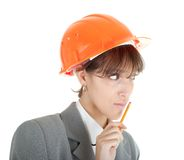Young girl in office clothes Stock Photo