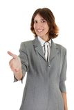 Young girl in office clothes Royalty Free Stock Photos