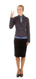 Young girl in office clothes Royalty Free Stock Photography