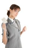 Young girl in office clouses Stock Photo