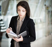 Young girl in office. Stock Image