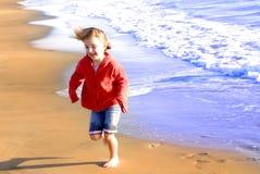 Young Girl On Beach Stock Image