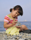 Young girl outdoor Stock Images