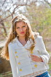 Young girl outdoor portrait Stock Photos