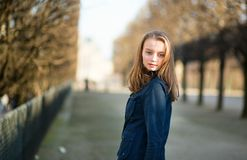 Young girl outdoors on a spring day Royalty Free Stock Photos