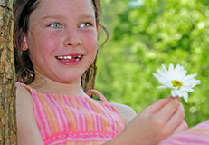 Young girl outside in summer Royalty Free Stock Photos
