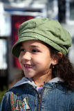 Young Girl Outside in Winter Royalty Free Stock Image