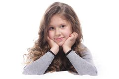 Young girl over white Stock Photos