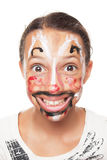 Young girl with painted face Royalty Free Stock Image