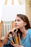 Young girl painter Royalty Free Stock Image