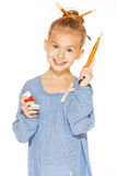 Young girl - painter Stock Photography